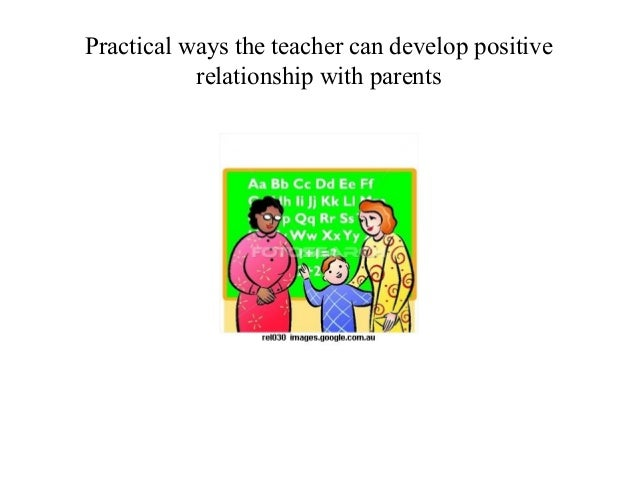 to establish and productive relationship with families
