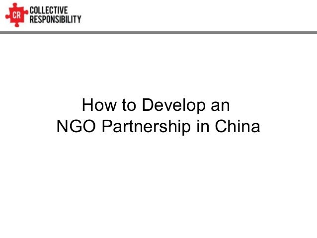 How to Develop an NGO Partnership in China