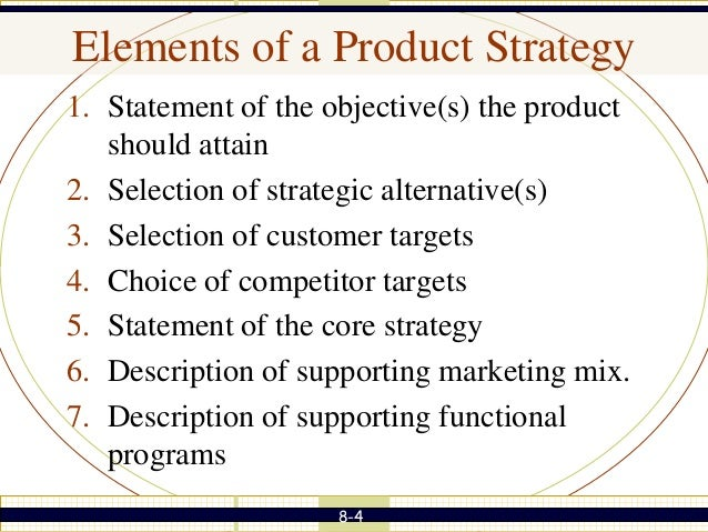 Developing Product Strategy