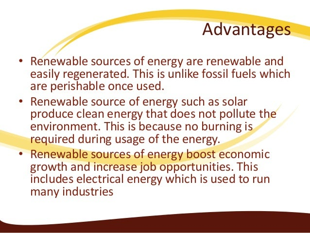 Essay on renewable resources