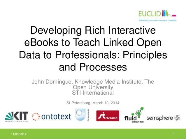 Developing Rich Interactive eBooks to Teach Linked Open Data to Professionals: Principles and Processes John Domingue, Kno...