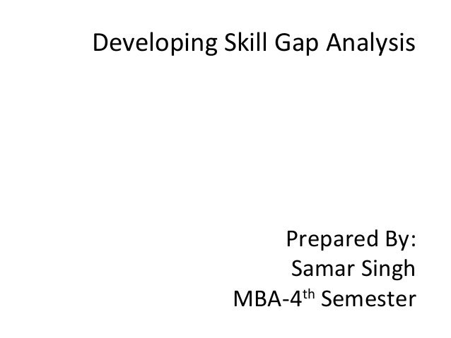 Developing Skill Gap Analysis Prepared By: Samar Singh MBA-4th Semester