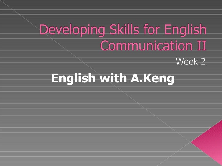 English with A.Keng