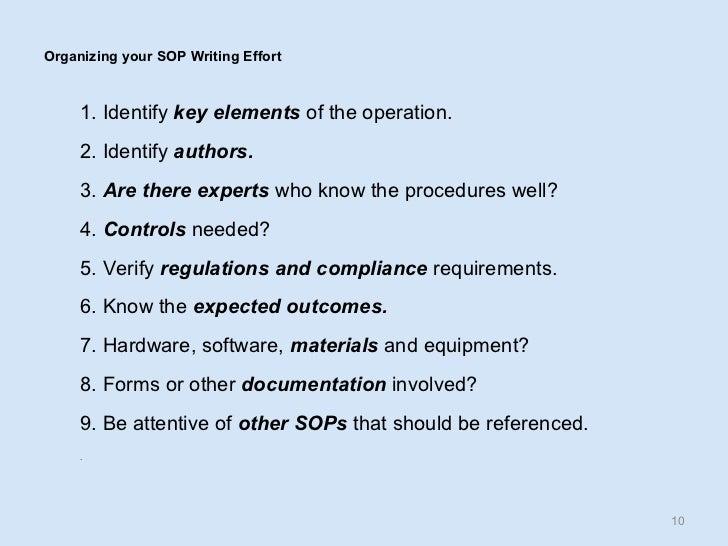 10 Organizing Your SOP Writing