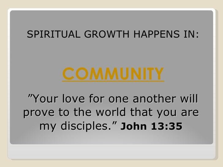 Developing spiritual maturity