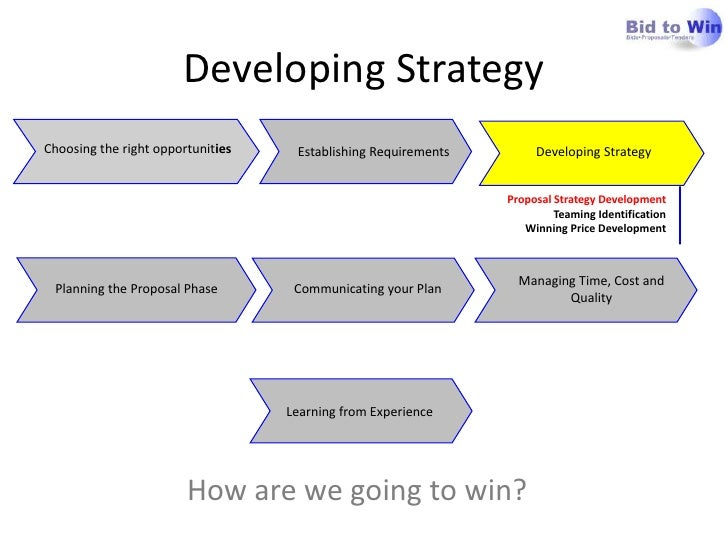 Developing Strategy<br />  Establishing Requirements<br />Communicating your Plan<br />Planning the Proposal Phas...