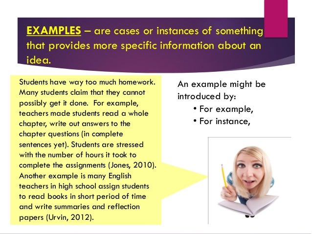 Supporting paragraphs for the body of your expository essay