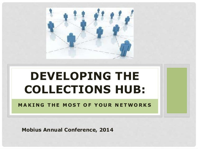 M A K I N G T H E M O S T O F Y O U R N E T W O R K S DEVELOPING THE COLLECTIONS HUB: Mobius Annual Conference, 2014