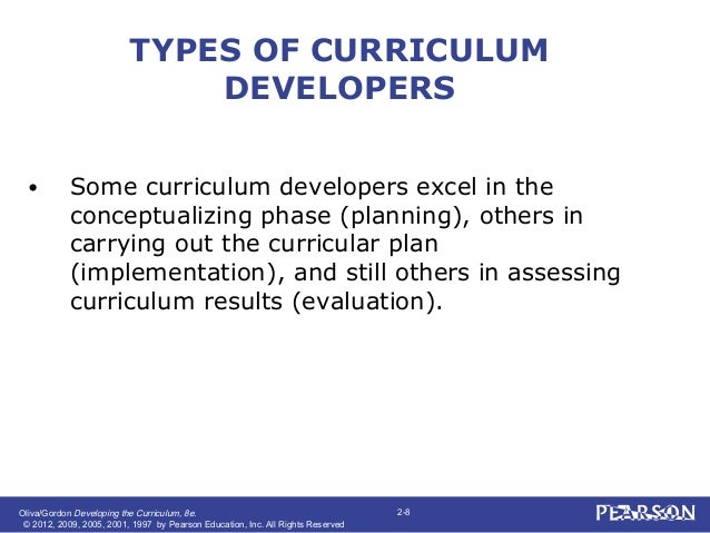 Developing the curriculum chapter 2