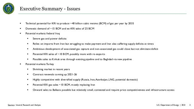 U.S. Department of Energy | 2021 3 Sources: Internal Research and Analysis Executive Summary - Issues  Technical potentia...