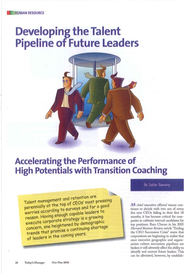 'Developing the talent pipeline of future leaders' oct nov 2010