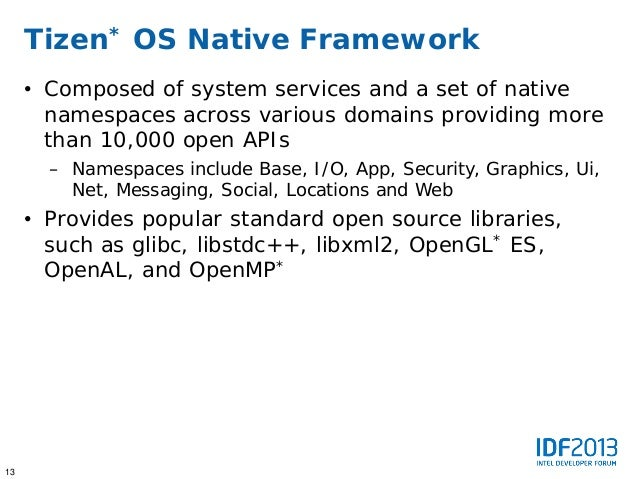 Developing Tizen Operating System Based Solutions - IDF2013 Beijing