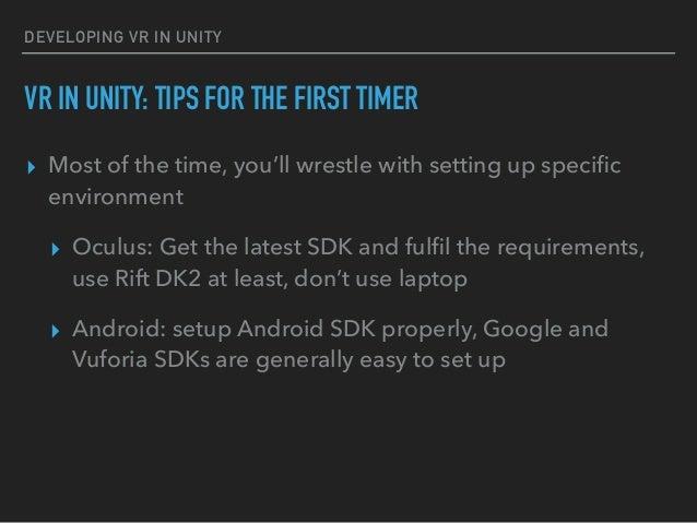 Developing VR in Unity