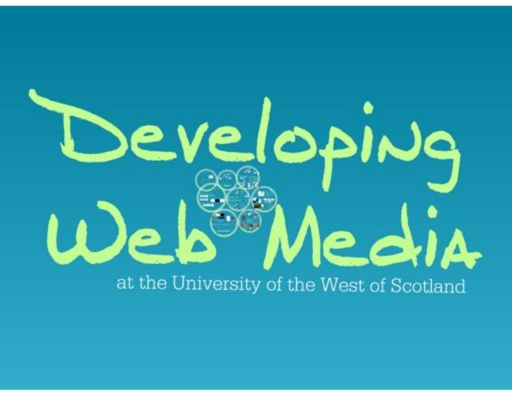 Developing Web Media: Teaching teachers how to teach social media.