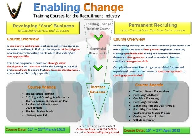 Enabling                      Training Courses for the Recruitment Industry                                               ...
