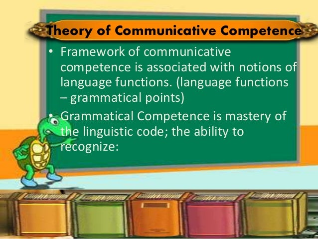 on developing communicative competence On communicative competence in curriculum design:  developing the communicative competence of students is one of the major goals of english teaching in.