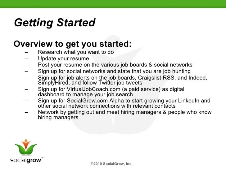 Developing Your Job Search Strategy