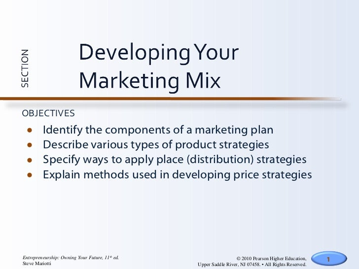 develop marketing mix strategy The definition and components of marketing mix a marketing mix is the tools, strategies factors that a team analyzes in order to develop these strategies.
