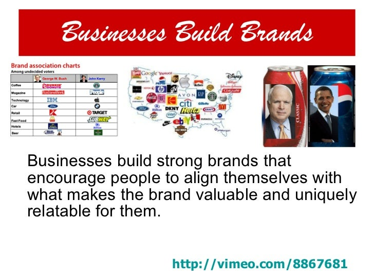 Businesses Build Brands <ul><li>Businesses build strong brands that encourage people to align themselves with what makes t...
