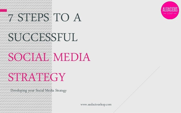 7 STEPS TO A SUCCESSFUL SOCIAL MEDIA STRATEGY Developing your Social Media Strategy  www.audaciousleap.com