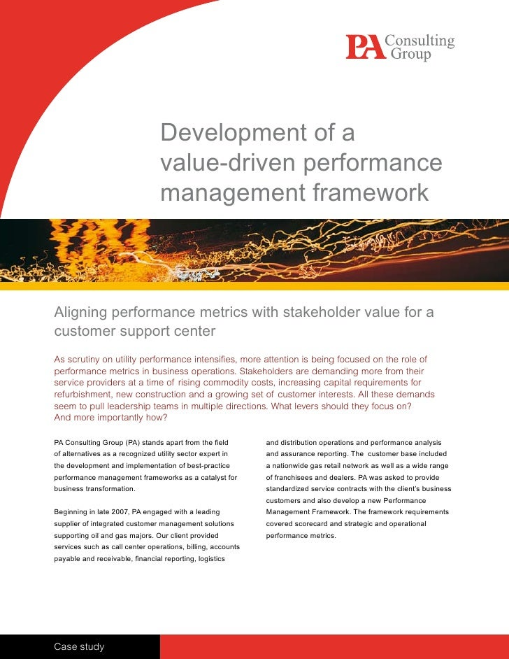Development of a                                   value-driven performance                                   management f...