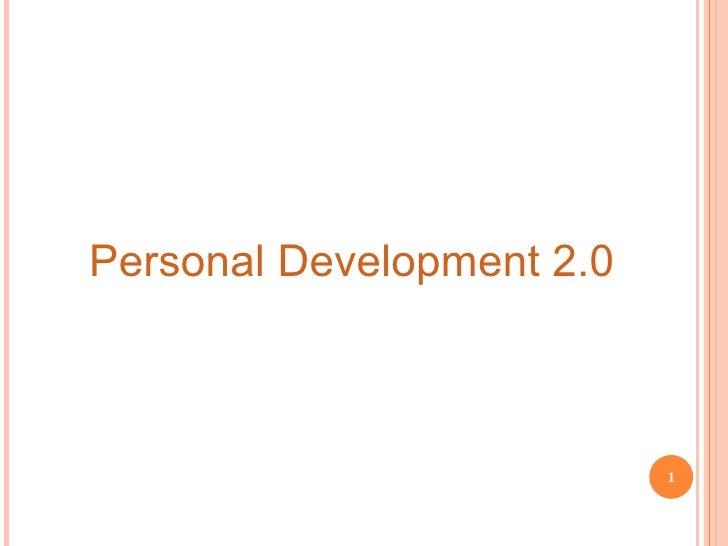Personal Development 2.0