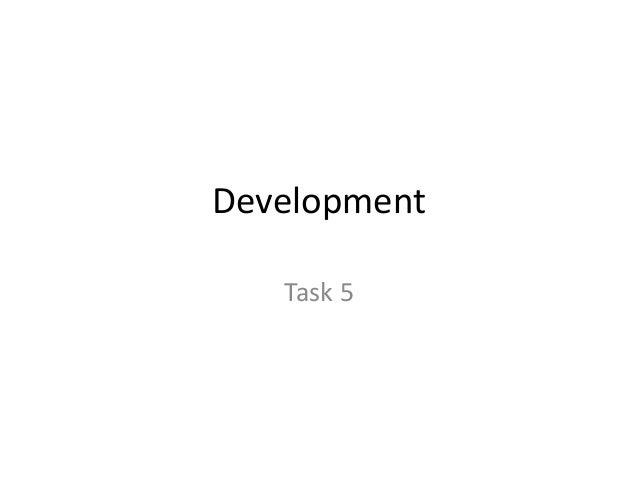 Development Task 5