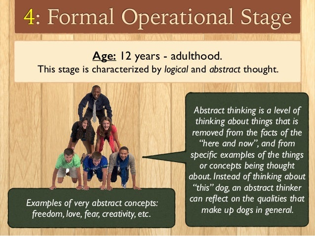 development-part-2-13-638 Formal Operational Stage Thoughts Examples on jean piaget theory, slide powerpoint presentation, real life examples, developmental issue, abstract thinking,