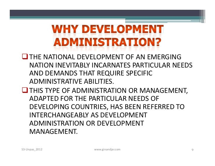difference between development administration and administrative development