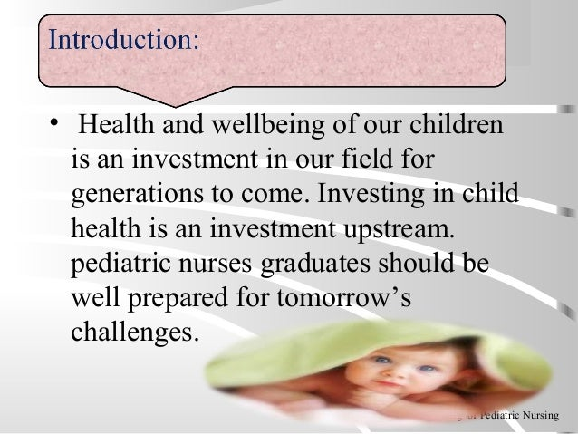 • Health and wellbeing of our children is an investment in our field for generations to come. Investing in child health is...