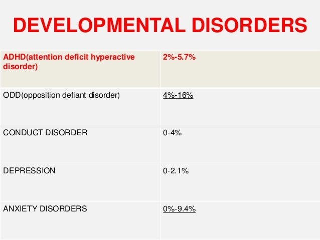 developmental disorders ppt