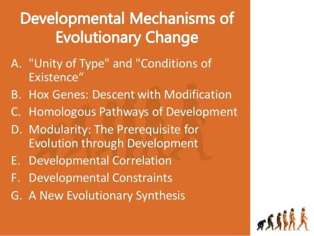 Developmental mechanisms of evolutionary change Slide 2