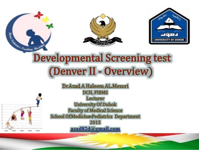 Developmental Screening test (Denver II - Overview)