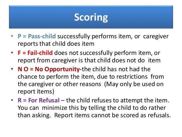denver developmental screening test scoring