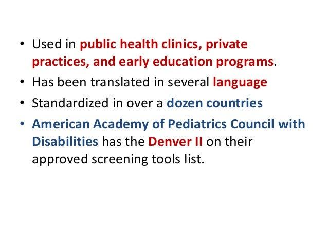 denver developmental screening test ppt