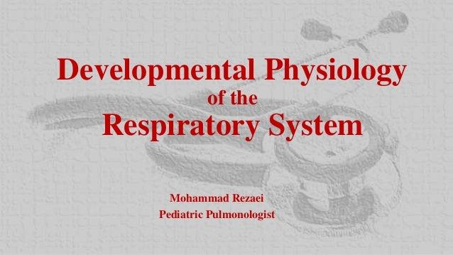 Developmental Physiology of the Respiratory System Mohammad Rezaei Pediatric Pulmonologist