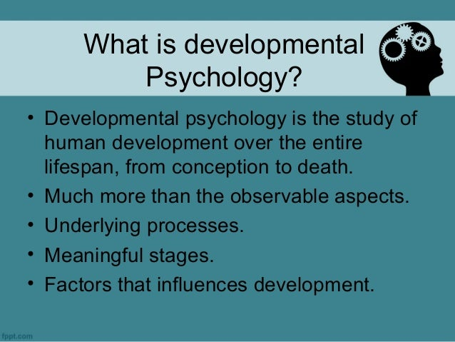 Developmental psychology - Wikipedia