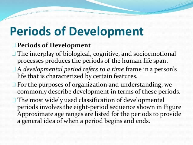 an understanding of developmental psychology