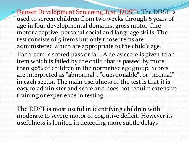 Developmental screening in children