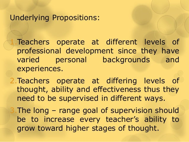 developmental supervision Systemic supervision is an experiential approach that explores the self of the therapist and reciprocal influences between two systems: therapist and client.