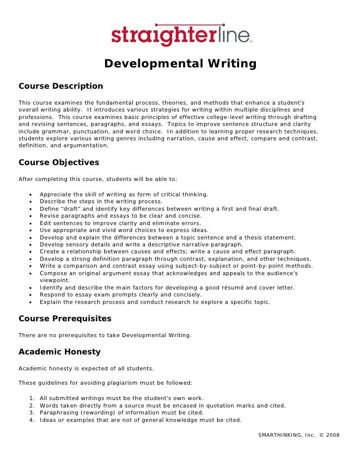 Developmental writing syllabus developmental writing course description this course examines the fundamental process theories and methods that fandeluxe Images