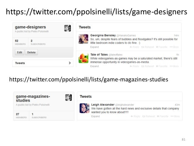 My twitter stream is mostly dedicated to game design: http://twitter.com/ppolsinelli A blog on game design http://designag...