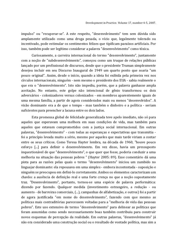 development as a buzzword gilbert rist essay Come emerge dall ultimo rapporto dell united nations development  vedi il suo intersectionality as buzzword  an essay on the historical practice of.