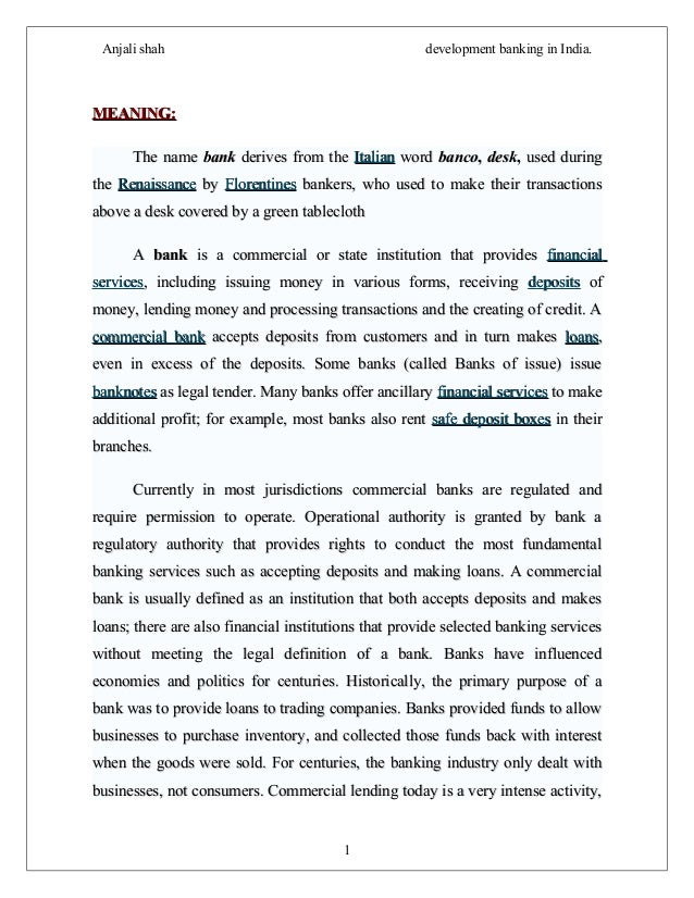 progress of banking in india Download and read progress of development banking in india progress of development banking in india reading is a hobby to open the knowledge windows.