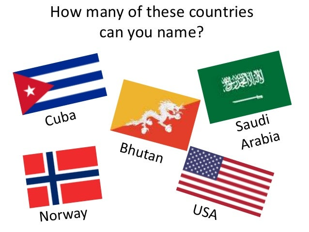 How many of these countries can you name?