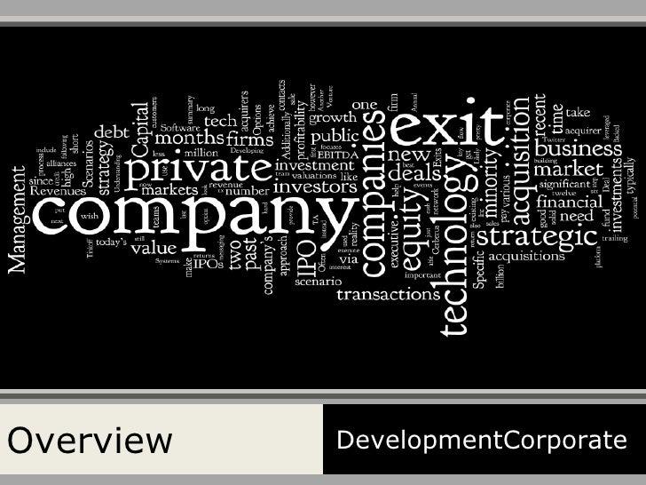 Overview DevelopmentCorporate