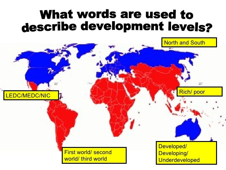 a discussion about the meaning of development and developed countries