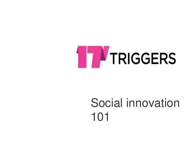 Social innovation 101