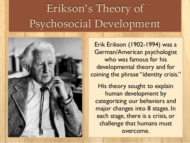erik erikson's theory of psychosocial development References & other links links check out these links for more information on erik erikson and his theory ofpsychosocial development (links are to local files.