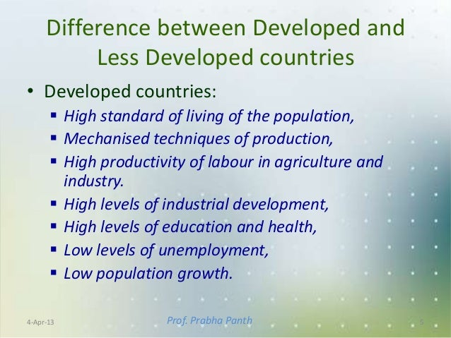 difference between developing and underdeveloped countries pdf
